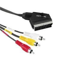 Cavetteria Audio/Video Cavo Adatt.3 RCA F/Scart M 1,5m 1*43178 (AZ)