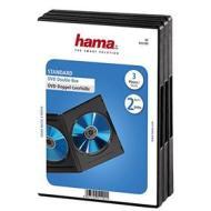 Porta Supporti Magnetici Audio/Video Conf.3Cust.DVD Doppie Nero 51290 (AZ)