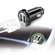 Caricabatterie da auto Dual USB ad alta potenza 2A
