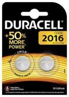 Batteria Dedicata DURACELL CR2016 3v Litio 2pz -DU20B2 (AZ)