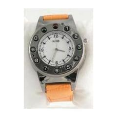 Watch Phone Silver Leather Yellow