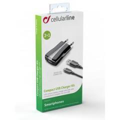 Caricabatterie 2 in 1 con connettore Micro USB