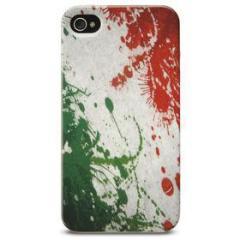 Cover Mundial in gomma bandiera Italia iPhone 4