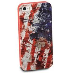 Cover Mundial in gomma bandiera USA iPhone 5