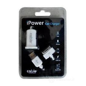 Alimentatore Auto iPower iPhone White
