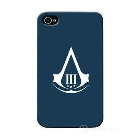 Cover Ass.Creed 3 Logo Blu iPhone 4/4S