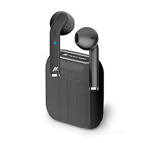 Auricolari Music Hero Twin True Wireless Stereo nero