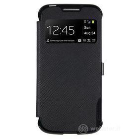 Flip cover in ecopelle con finestra Samsung Galaxy S4 Mini