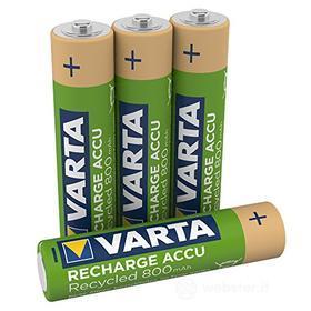 Batteria Standard Ricaricabile Ricar.Varta 56813 Bl/4pz Minist.800 Read (AZ)