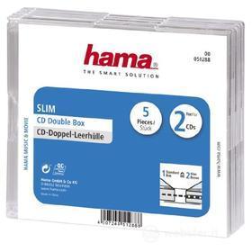 Porta Supporti Magnetici Audio/Video Conf.5Cust.CD Slim Doppie Trasp. 51288 (AZ)