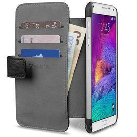 Custodia a libro effetto pelle con tasche Galaxy Note 4