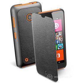 Custodia a libro effetto pelle Lumia 530