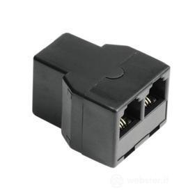 Cavetteria Telefonia Modular Splitter 6p4c socket - 2 6p4c sockets 00044855 (AZ)