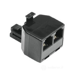 Cavetteria Telefonia Modular Splitter 6p4c plug - 2 6p4c sockets 00044856 (AZ)