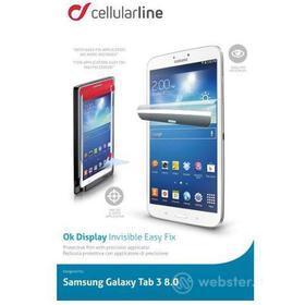 Pellicola protettiva 8' Samsung Galaxy Tab 3 con applicatore di precisione