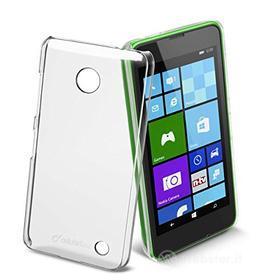 Cover rigida trasparente e pellicola protettiva Nokia Lumia 630