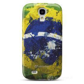 Cover Mundial in gomma bandiera Brasile Samsung Galaxy S4