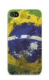 Cover Mundial in gomma bandiera Brasile iPhone 4