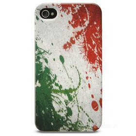 Cover Mundial in gomma bandiera Italia iPhone 4