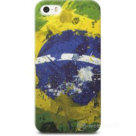 Cover Mundial in gomma bandiera Brasile iPhone 5
