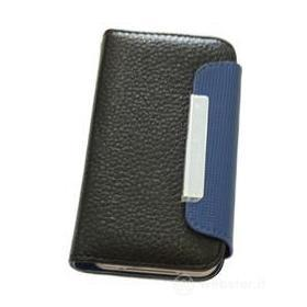 Custodia Folio Case Black/Blue iPhone 4