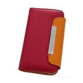 Custodia Folio Case Pink/Orange iPhone 4