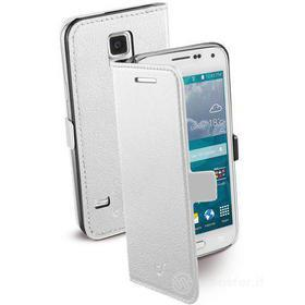 Custodia a libro effetto pelle Galaxy S5 Mini