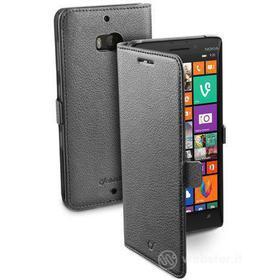 Custodia a libro effetto pelle Lumia 930