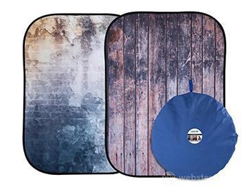 Accessorio Illuminatore Fondale ripiegababile 1,5m x 2,1m Staccionata/muro rovinato (AZ)