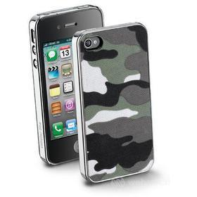 Cover rigida con inserto in tessuto iPhone 4