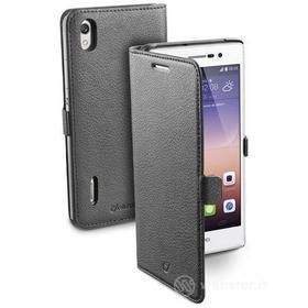 Custodia a libro effetto pelle Huawei P7