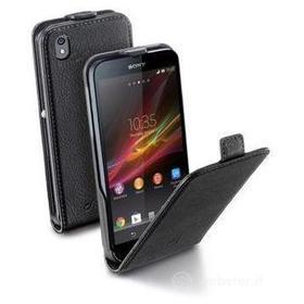 Flip Cover in ecopelle Sony Xperia Z1