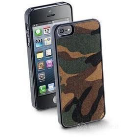 Cover rigida con inserto in tessuto iPhone 5