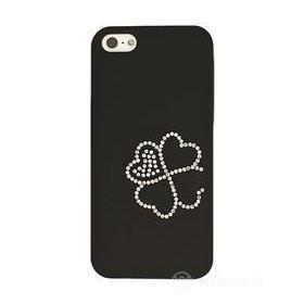 Custodia Luxury Four-Leaf Black iPhone 5
