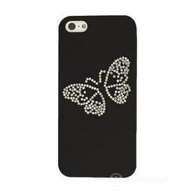 Custodia Luxury Butterfly Black iPhone 5