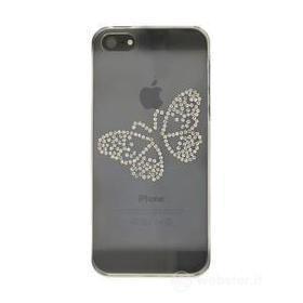 Custodia Luxury Butterfly Clear iPhone 5