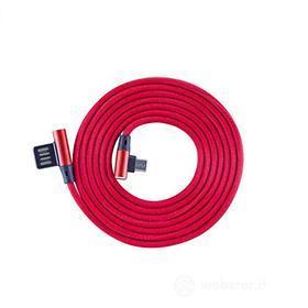 Cellulare - Kit Cavo Dati/ Stili/Pennini Cavo USB-MICRO-90 Red (AZ)