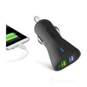 Cellulare - Cavo Accendisigari Caricabatterie da auto USB - Quick Charge (AZ)