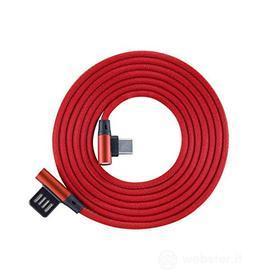 Cellulare - Kit Cavo Dati/ Stili/Pennini Cavo USB-TYPEC-90 Red (AZ)