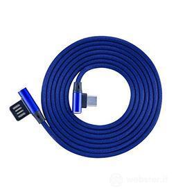 Cellulare - Kit Cavo Dati/ Stili/Pennini Cavo USB-TYPEC-90 Blue (AZ)