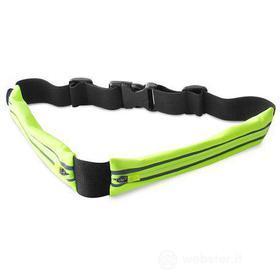"""Sport Belt con doppia tasca per smartphone fino a 6,3"""" verde"""