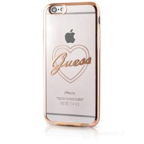Cover trasparente con bordi colorati Guess per iPhone 6
