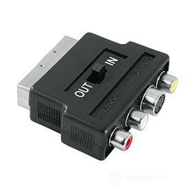 Cavetteria Audio/Video Adattatore S-VHS F+3RCA F/Scart 122238 (AZ)