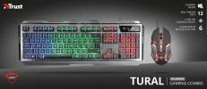 TRUST GXT 845 Tural Gaming Keyboard+Mous