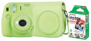 FUJIFILM Fotoc.Instax MINI9 LIME+10+CASE