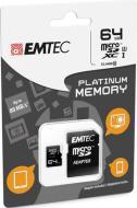 MicroSD + Adapter 64GB Plat (Full HD)