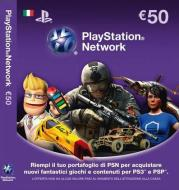 PS3 PSP Cards PSN Sony 50 Euro