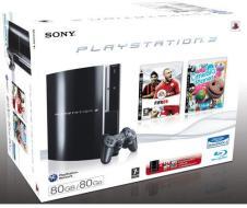 Playstation 3 80 Gb + Fifa 09 + LittleBP