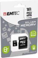 MicroSD + Adapter 16GB Silver (MP3-MP4)