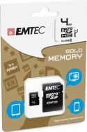MicroSD + Adapter 4GB Gold (Smartph-Tab)